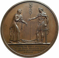 1805 FRANCE Napoleon Bonaparte & Austria Emperor FRANCIS II French Medal i75717