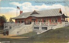 Tacoma Washington~Electric Railway Station~Point Defiance Park~1912 Postcard