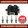 4x Genuine NGK Platinum Spark Plugs & 1x Ignition Coil for Subaru Forester SG SH
