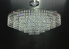 CRYSTAL CHANDELIER Chrome CEILING LIGHT Flush lighting glass fitting  S-Moss-50