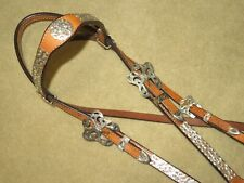 NWT~~VINTAGE CIRCLE Y Stunning FILIGREE STERLING SILVER Western Headstall Bridle