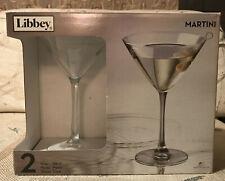 Libbey 10 oz Martini Glasses - #7518 - 2 Glasses in Box - New