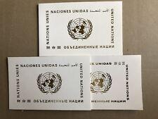 UNITED NATIONS - 3 DIFF. FLAG PRESENTATION FOLDERS (1981, 1983, 1985)