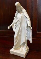 A Parian Ware Porcelain Figure Of Jesus Christ, Arms Open, 19th Century. 22.5cm.