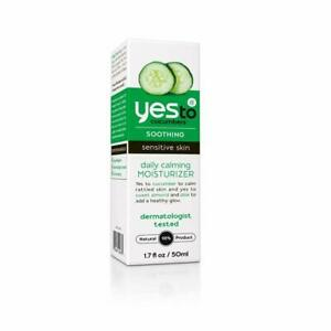 Yes To Cucumbers Soothing Sensitive Skin Daily Calming Moisturizer 1.7 oz