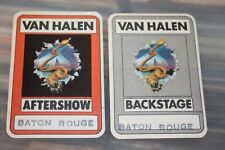 Van Halen - 1982 Unused Backstage Pass Collection - Baton Rouge