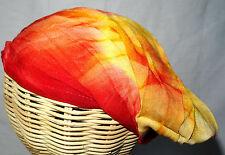 Bandeau à Cheveux Serre tête Fichu Ethnique Tie and dye Hippie jaune rouge