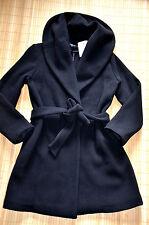 HALLHUBER schöner Mantel Wollmantel Wolljacke Gr. 38 UK 10 neu Schwarz Wolle Mix