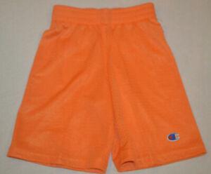 Boy's Champion Orange Athletic Slip On Shorts Size 5