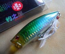 Leurre pêche surface mer riviere Popper 8,5cm 18g vert