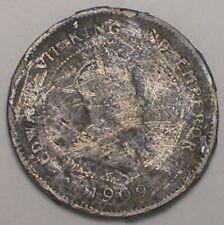 1909 British Honduras 5 Cents King Edward VII Coin Cull