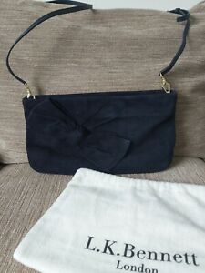 LK Bennett bag - Navy Suede with detachable straps