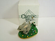 Fitz and Floyd Charming Tails The Chase is On 1997 bunny rabbit and bees Nib