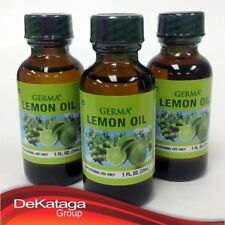3 GERMA LEMON OIL FOR AROMATHERAPY MASSAGE 1 OZ / 3 ACEITE DE LIMON GERMA MASAJE