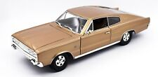 1966 DODGE CHARGER BRONZE MET 1:18 DIECAST MODEL CAR BY ROAD SIGNATURE 92638