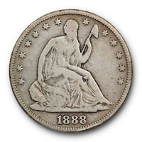 1888 Seated Liberty Half Dollar Very Good VG Key Date Low Mintage