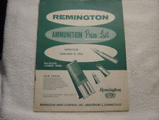 Remington 1961 price list ammunition