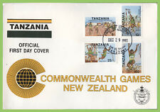 Tanzania 1990 Commonwealth Games set on First Day Cover