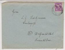 Bizone/AM-Post, 15b EF, Dettum über Wolfenbüttel