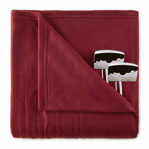 Biddeford Comfort Knit Queen Electric Blanket Claret Red