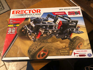 MECCANO 17204 OFF-ROAD RACER,25-IN-1 MOTORIZED ERECTOR SET KIT STEM TOY new