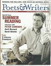 Poets & Writers Magazine July August 2002 Peter Cameron/April Bernard/Preimeres