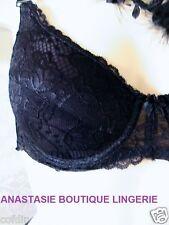 LINGERIE SEXY SOUTIENS-GORGE PUSH-UP DENTELLEBRETELLESAMOVIBLESNOIR 85BFR/70BEUR