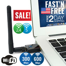 USB WiFi Adapter Dongle Card Wireless Network Laptop Desktop PC Antenna Receiver