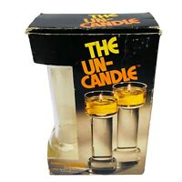 """THE UNCANDLE 9"""" Floating Candles 1970s Pyrex Corning ORIGINAL Complete"""