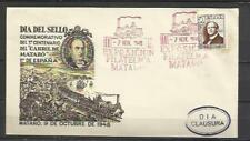 W1A-SOBRE ESPECIAL 1948 TRENES FERROCARRIL EXPOSICION, MATARO BARCELONA ESPAÑA