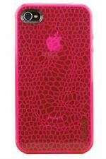 Gecko Gear Pink GLOW in the Dark Case - w/ Anti-Glare Guard for iPhone 4/4s