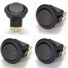4 Stück Kippschalter mit LED 4 Farben 12V 12A mit 4,8 mm Stecker