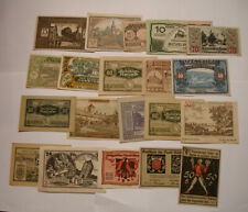 20 Piece Collection of NOTGELD Notes mostly of Germany COLORFUL nice mix