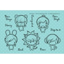 WILD THINGS-The Greeting Farm Rubber Stamp-Mini Anya/Ian-Stamping Craft-Animals
