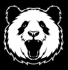 A roaring panda vinyl cut sticker or decal. Great for car or laptop!!!