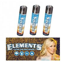 Lot Of Three Elements Cigarette Rolling Papers Brand Lighters by Clipper