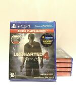 Uncharted 4: A Thief's End Sony Playstation 4 PS4 Brand New Factory Sealed