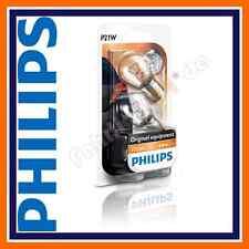 2x original Philips premium Vision p21w 12498b2 12v 21w ba15s señal lámparas auto