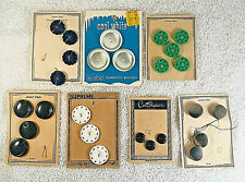New listing Vintage Lot of Buttons on Cards 26 Mother of Pearl Le Chic G/10 Supreme Mixed