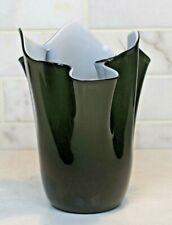 Pilgrim Roberto Moretti Signed Cased Black & White Art Glass Handkerchief Vase