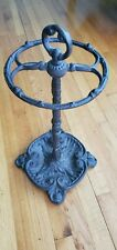 antique ornate cast iron Victorian umbrella cane walking stick stand holder