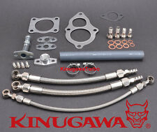 Turbo Install Kit For Mitsubishi 4G63T RVR w/ stock TD04HL 13T 15T Turbocharger