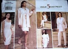 Vogue Pattern 1609 UNCUT 5 Easy Pieces Jacket Dress Skirt Pants Top Sz 6-8-10