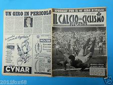 1963 il calcio e ciclismo illustrato n. 20 angelo sormani italy brazil gilmar gq