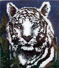 """LATCH HOOK RUG CANVAS KIT """"WHITE TIGER"""" UK seller"""