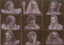 "Lord of the Rings Masterpieces - ""Bronze Parallel"" Set of 9 Chase Cards #1-9"