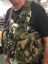 US ARMY WOODLAND CAMO AIR WARRIOR VEST SURVIVAL GEAR MILITARY SURPLUS HARNESS