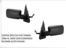 COPPIA SPECCHIO SPECCHI DESTRO SINISTRO FIAT PANDA DAL 1986 AL 2003 CON COMANDO