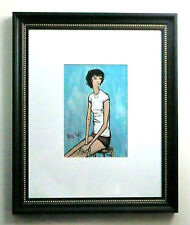 BERNARD BUFFET - A 1960s ORIGINAL GOUACHE PAINTING GIRL WOMAN - FRENCH, REDUCED
