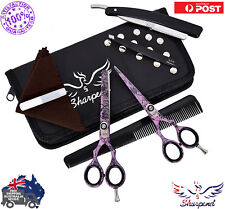 """5.5"""" Professional Barber Hairdressing Scissors Thinning & Hair Cutting Set Pink"""